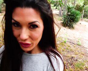 Brunette, Outdoors, Amateur alexa y joel tomas blowjob in a public park