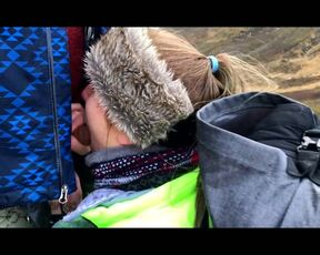 Blow Jobs, Outdoor Public Blowjobs layna landry bj on a mountain in iceland