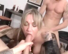 Blowjob, Amateur, MILF, Big Tits, Threesome, Creampie, Big Dick, Anal Husband shares his slutty wife with his best friend on vacation SiteRip