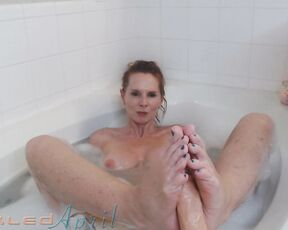 Barefoot, Bathtub Fetish, Foot Fetish, Foot Play, Footjobs aprilskyz bathtub footjob ManyVids