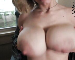 Huge Tits, Huge Boobs, Big Tits, Eye Glasses auroraxoxo playing with tits unusable footage ManyVids