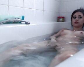 Bathtub Fetish, Masturbation, Vibrator, Solo Female, Solo masturbation ecchikitten cumming in the bath ManyVids