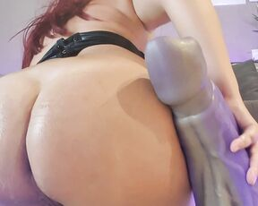 Anal,Big Pussies,Big Tits,Huge Dildo naughtyellexxx huge dildo in pussy and ass ManyVids