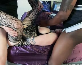 BBC, Cum In Mouth, Double Penetration, Hot Wives, MILF stag and vixen hotwife mmf bbc dp anal fuck facial ManyVids