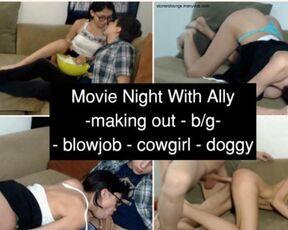 Cream Pie, Boy Girl stoners lounge movie night with ally
