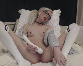 Eye Glasses, Socks, Orgasm Control stormyy thigh highs and glasses