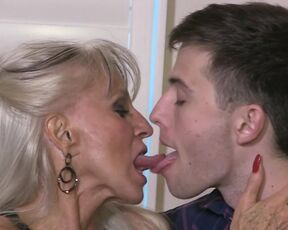 Tongue Fetish, Cougar, Older Woman / Younger Man . sally dangelo cougar prey