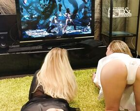 Ass, Asshole, Challenges, Sexy Gamer, Games loveskelly two blondes play in the playstation ManyVids