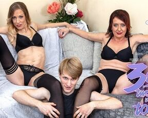 Old, Blowjob, Toy Boy Gwen Cortez - A hot threesome with a toyboy and two horny