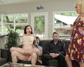 Creampie, Foursome, Blowjob Leia Rae & Tiffany Fox - Family Swap Wife