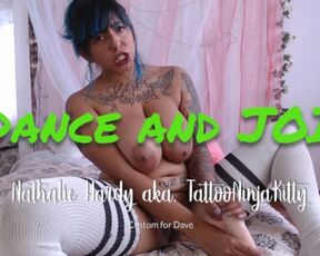 Joi, Huge Boobs tattoo ninja kitty dance and joi custom for dave