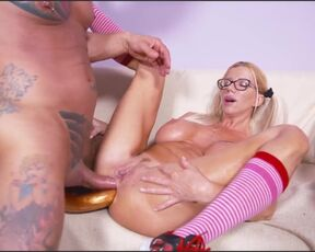 double penetration, facial cumshot, big tits, pegging, cheerleader, blowjob, milf, blonde, gapes, fisting, gay, anal, fake tits, high heels, 1 on 1, huge toys, double anal Lara De Santis destroys her and boyfriend's ass DP, pegging, gape OTS482 720p AnalV